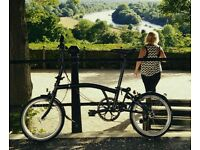 Brompton S2L Black Edition folding bike- excellent condition!