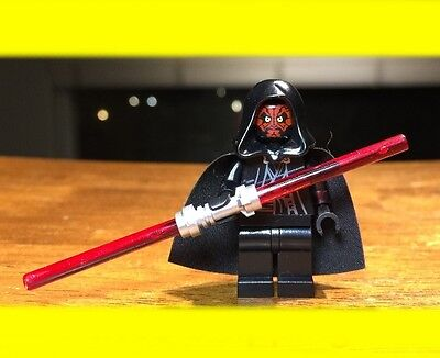 Lego Star Wars Darth Maul W  Dual Lightsaber Authentic Minifigure Rare Ep 1
