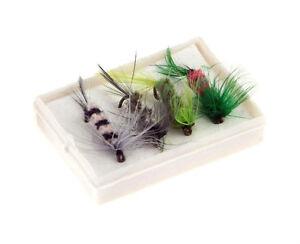 Set *A de 4 Mouches artificielles pour Pêche à la Mouche VVV