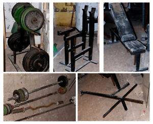 Cast iron gym weights and equipment