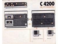 Grundig C42 00 Automatic Radio and tape recorder.