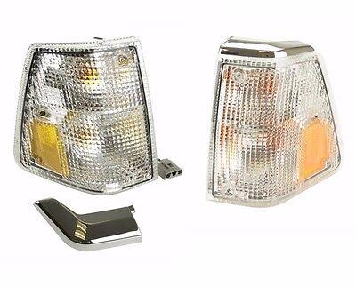 For Volvo 240 Turn Signal Light L+R x2 AFM lens+housing corner blinker lamp park