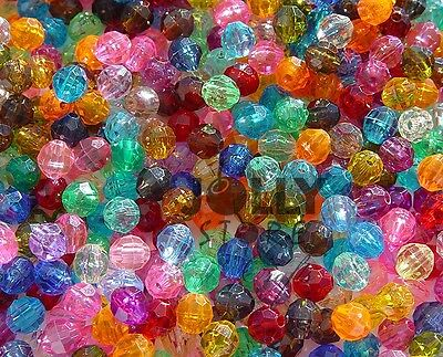 6mm Transparent Color choices Faceted Round Beads 500pc made n USA church crafts - Church Crafts