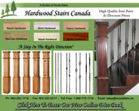 Hardwood Stair Treads, Metal Balusters, Replacement Stair Treads
