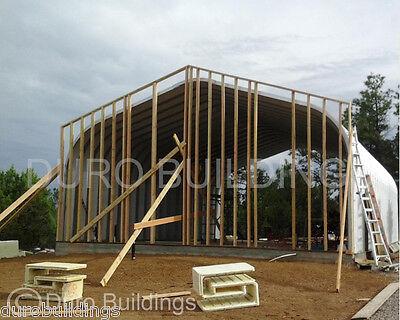 Durospan Steel 25x56x16 Metal Building Diy Home Kit Workshop Open Ends Direct