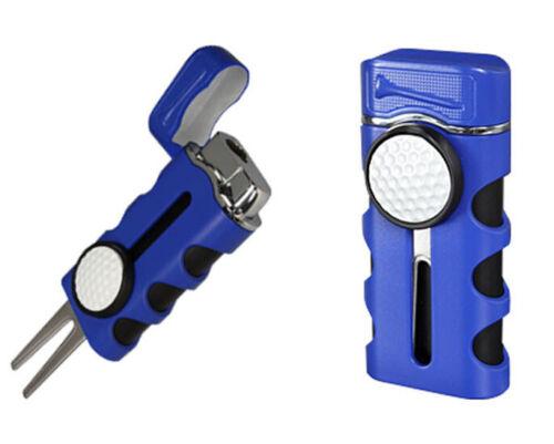 Vector Caddie BLUE Cigar Lighter Holder Divot Tool Ball Marker NEW