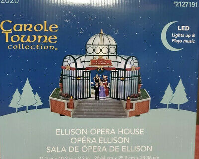 2020 Carole Towne Collection - Ellison Opera House Plays Music Lights Up Holiday