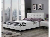 Leahter Double Bed