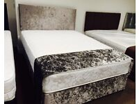 Crushed velvet double bed NEW ❤️as seen !!