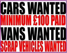 Scrap cars vans mot failures 07464596844