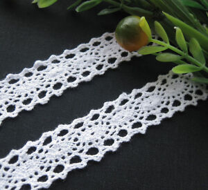 10Y-6-8-White-embroidered-cotton-trimming-Appliques-wedding-craft-cloth-R1026