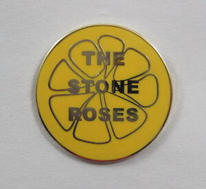 Stone Roses 'Lemon' Enamel Badge.Ian Brown,Primal Scream,Pretty Green,Oasis,Mod.