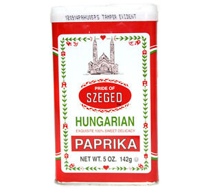 Szeged Hungarian Paprika 142g/5oz Hot or Sweet Paprika Imported from Europe