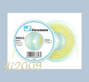 Viessmann-68643-cavo-filo-collegamenti-elettrici-0-14-mmq-25-mt-giallo