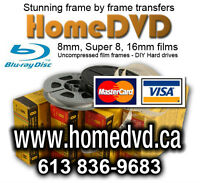 Transfer 8mm, Super 8 or 16mm film and home movies to DVD