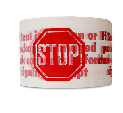 3x110 Yards Stop Sign Red Packing Packaging Tape 24 Rolls