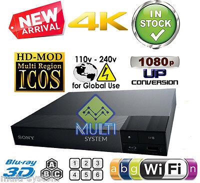 Sony BDP-S6500 Region Free DVD & BD ZONE ABC Blu-Ray Disc Player- 4K- 3D- WIFI
