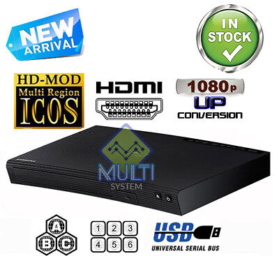 SAMSUNG BD-J5100 ALL REGION FREE BLU-RAY DVD PLAYER - ZONE A,B,C & DVD: 0-9, USB