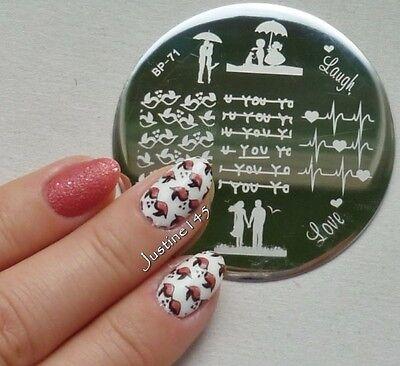 BORN PRETTY BP71 Love Theme Nail Art Stamping Template Image Plate Cute Birds
