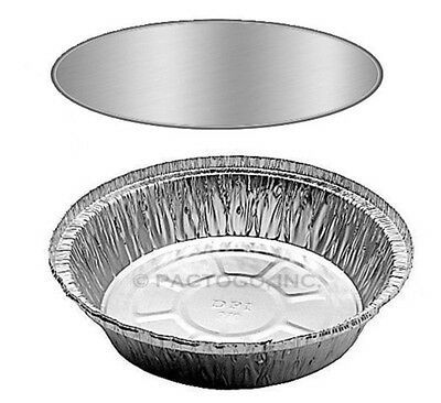 7 Round Aluminum Foil Take-out Pan Board Lids 100 Sets -disposable Containers