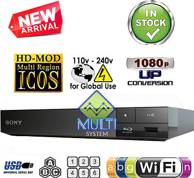 USED Sony BDP-S3500 Multi Region Code Free DVD Blu-Ray Disc Player - WiFi, USB