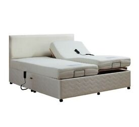 Electrically adjusted Double bed with Twin mattress - made by Oak Tree Mobility