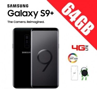 Samsung Galaxy S9+ PLUS 64GB G965 UNLOCKED ORIGINAL- NEGRO Caja + Accesorios