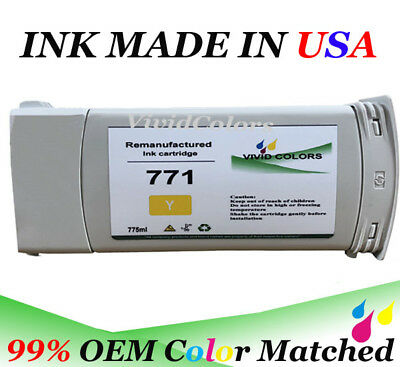 A VC 775ML Remanufactured HP 771 Yellow B6Y18A Ink Cartridge For Z6600