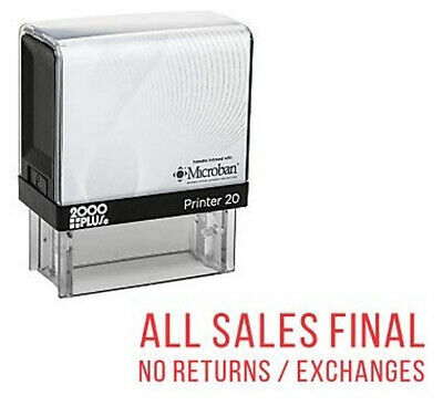 All Sales Final No Returns or Exchang Cosco Printer Office Self Ink Rubber Stamp