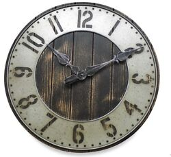 20 Farmhouse Clock Rustic Industrial Modern Metal Wall Decor Distressed Wood