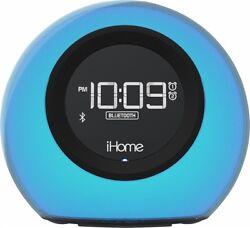 iHome Bluetooth Color Changing Dual Alarm Clock FM Radio USB Charge Speakerphone