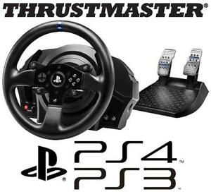 NEW OB PS4 PS3 T300RS RACING WHEEL 140069157 THRUSTMASTER VIDEO GAMES NEW OPEN BOX