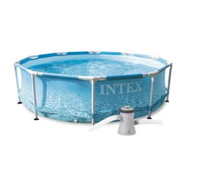 INTEX 305x76 Schwimmbecken Kinderpool OCEAN 28208 Metal Frame mit FILTERPUMPE