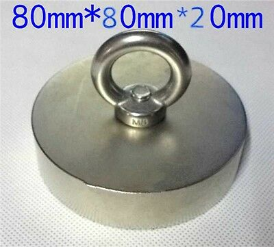 180 Kg Super New Ndfeb Powerful Big Round Neodymium Disc Magnets N52 D80x20mm