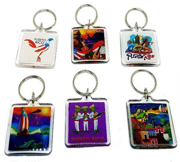 WHOLESALE  FREE SHIP 1 X Puerto Rico Maracas Key Chain Holder Souvenir Rican
