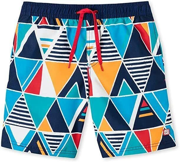 Schiesser Jungen Swimshorts / Badeshorts geometrisches Muster Gr. 134/140 NEU