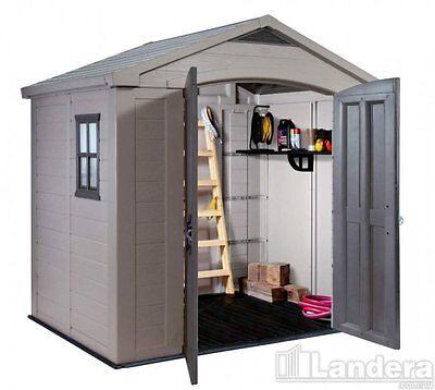 Keter Factor 8 x 6 Plastic Garden Shed/Garage Storage FREE DELIVERY