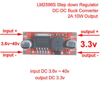 10w 2a Dc-dc Step Down Converter 5v 9v 12v 24v To 3.3v Buck Power Supply Module