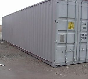 Land to store a storage container -sea can