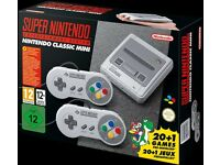 SNES Super Nintendo mini 21 games and 2 controllers brand new unopened