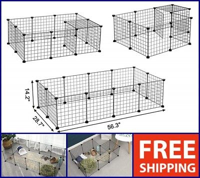PET PLAYPEN CAT DOG RABBIT PUPPY PIG PLAY PEN CAGE FOLDING RUN FENCE CRATE  for sale  USA