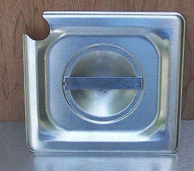 Restaurant Equipment Bar Supplies Slotted Sixth Size Stainless Food Pan Lid