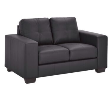 2x two seater black leather ZARA sofas Bomaderry Nowra-Bomaderry Preview