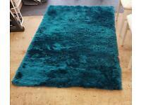 Blue lagoon plush dunelm rug