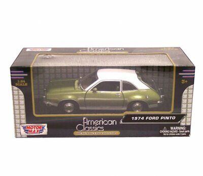 """1:24 Scale 1974 Ford Pinto Green """"American Classics"""" Diecast by Motor Max"""