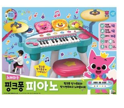 Pinkfong Shark Family Singing Piano Play Set 7 Korean 7 English 10 Classic Songs