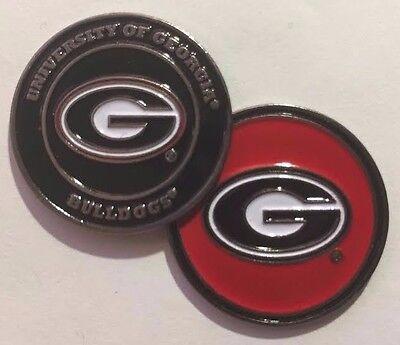 NEW NCAA University of Georgia Bulldogs Golf Ball Marker + Free Bonus - Georgia Golf Ball