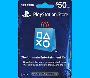 50 us playstation network store psn gift card for ps4 ps3 ps vita psp fast ebay. Black Bedroom Furniture Sets. Home Design Ideas