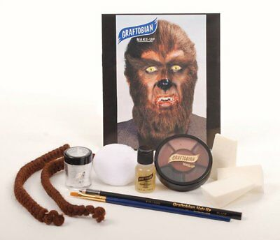 Werewolf Makeup Kit Theatrical Face Paint Halloween Fancy Dress Graftobian - Werewolf Face Paint Halloween