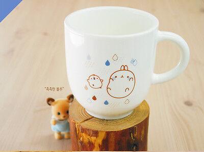 Molang Lovely rabbit Molang Tea Coffee Water Natural pottery Mug Cups - Blue